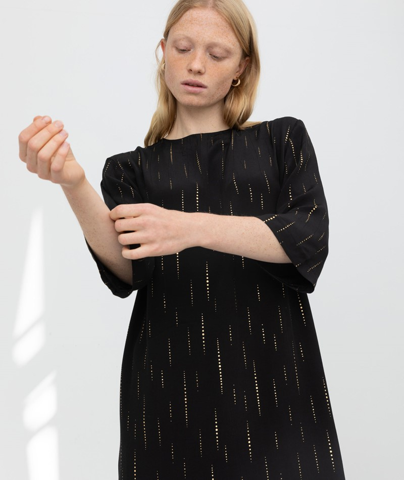 KAUF DICH GLÜCKLICH Kleid schwarz gold