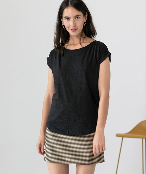 WEMOTO Bell T-Shirt schwarz mel
