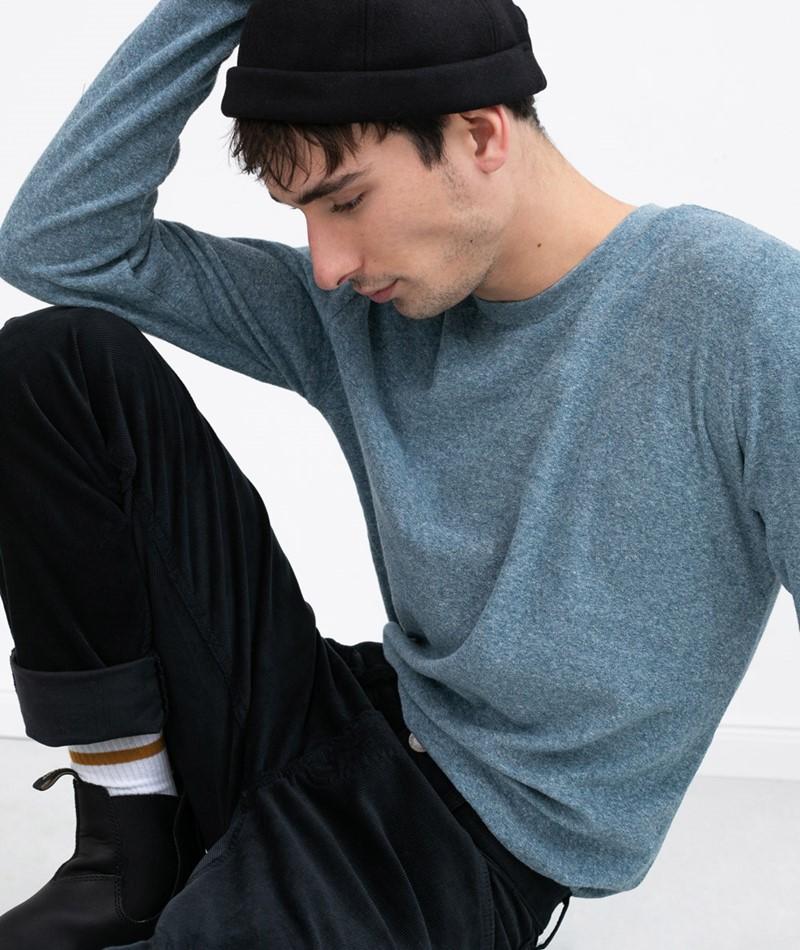 MINIMUM Kvist Sweater blau