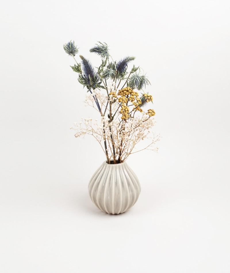 BROSTE Vase `Wide` S Ceramic beige