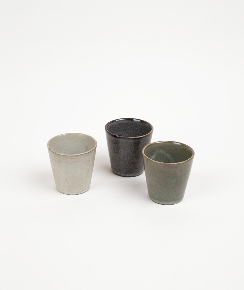 MADAM STOLTZ Stoneware Becher grün