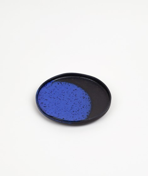 HKLIVING Ceramic Dessert Plate blau