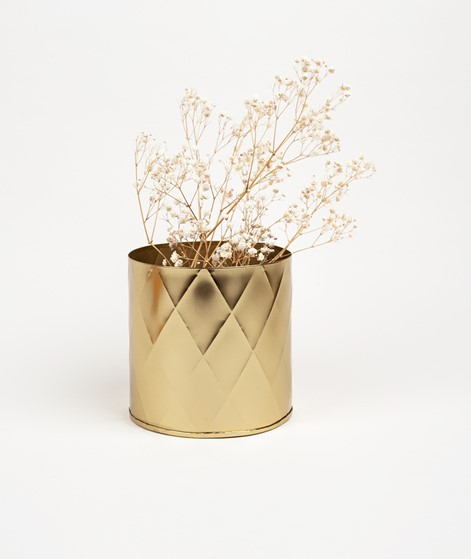 MADAM STOLTZ Blumentopf groß gold