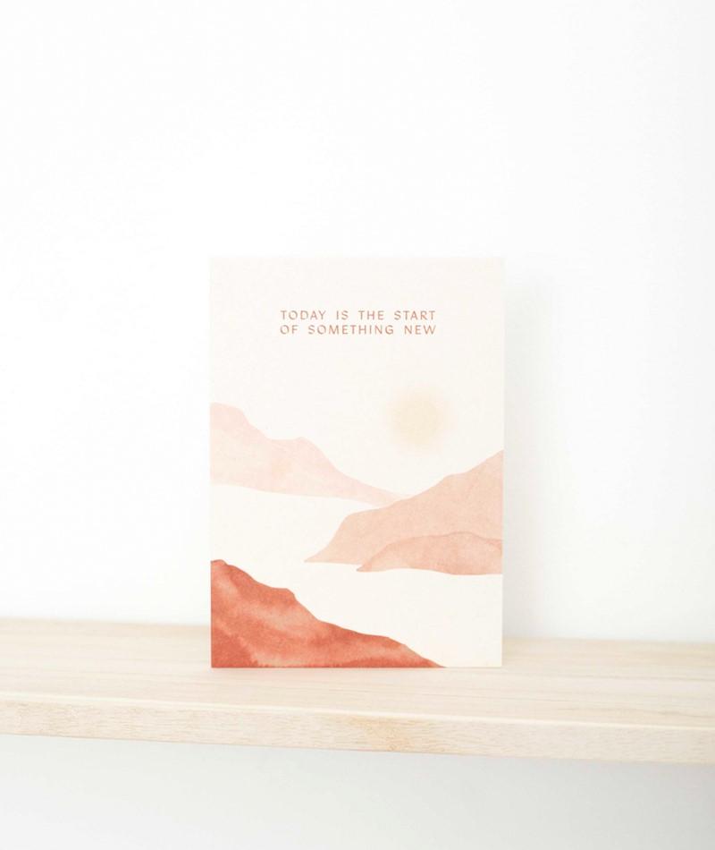 ANNA COSMA Postkarte Start of something
