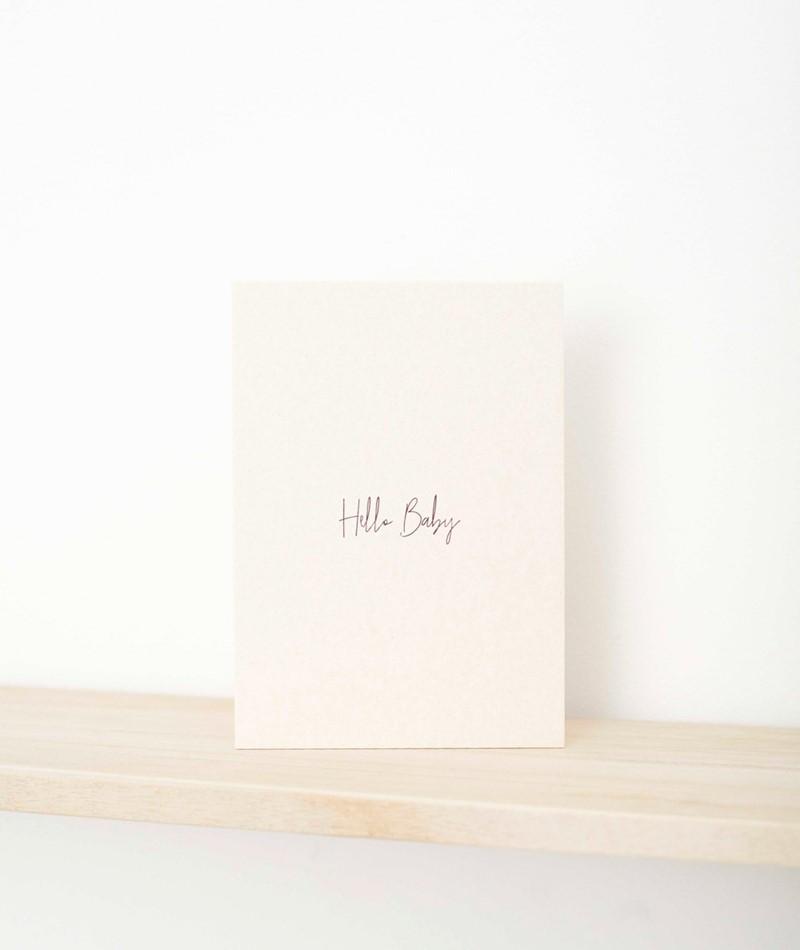 PAPIER AHOI Postkarte Hello Baby