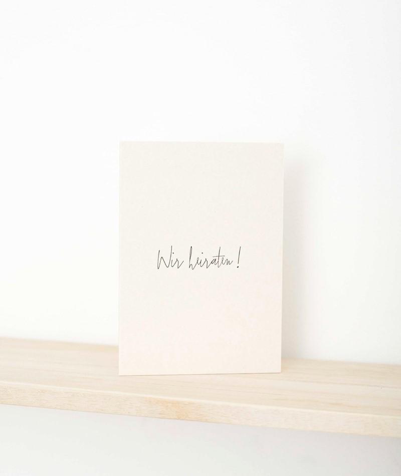 PAPIER AHOI Postkarte Wir heiraten