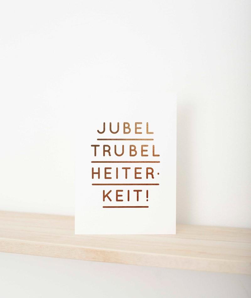 NAVUCKO Postkarte Jubel Trubel gold