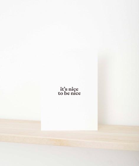 NAVUCKO Postkarte It`s nice to be nice