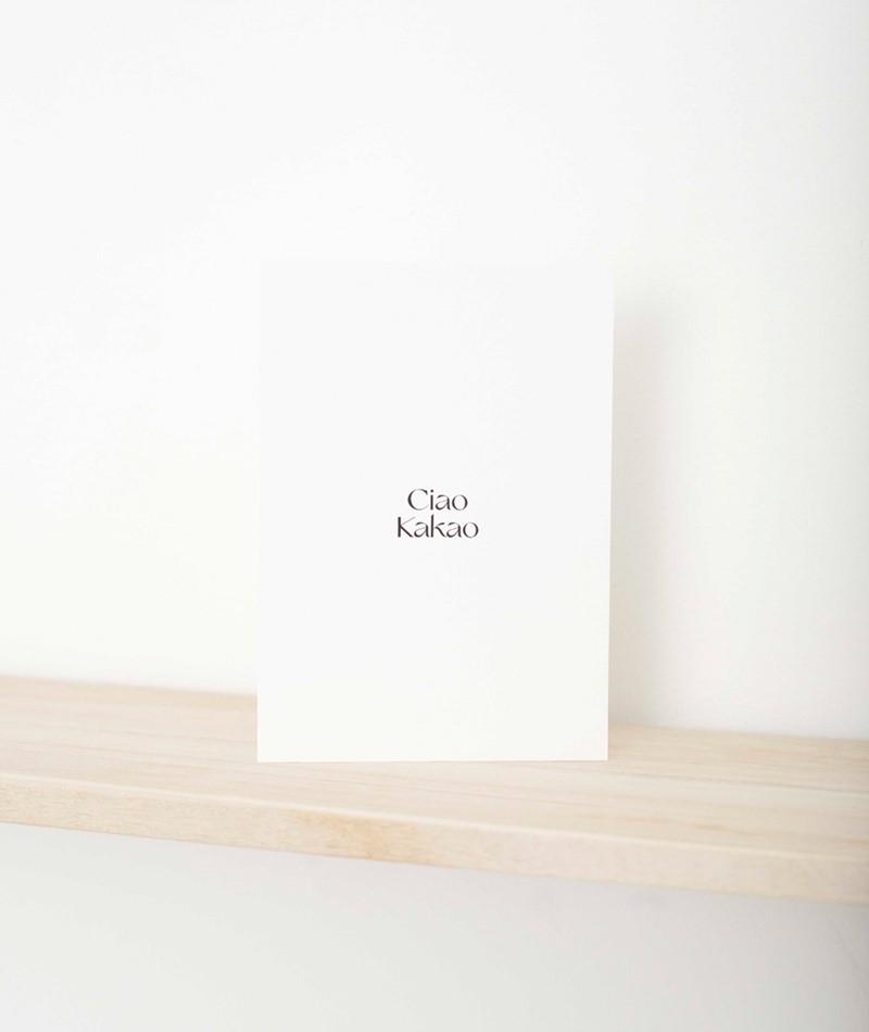 NAVUCKO Postkarte Ciao Kakao
