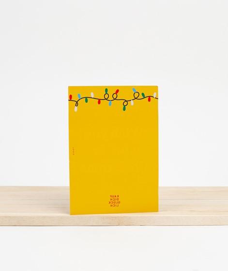 KAUF DICH GLÜCKLICH Postkarte bright