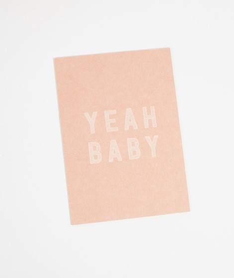 PAPIER AHOI Postkarte Yeah Baby rosa