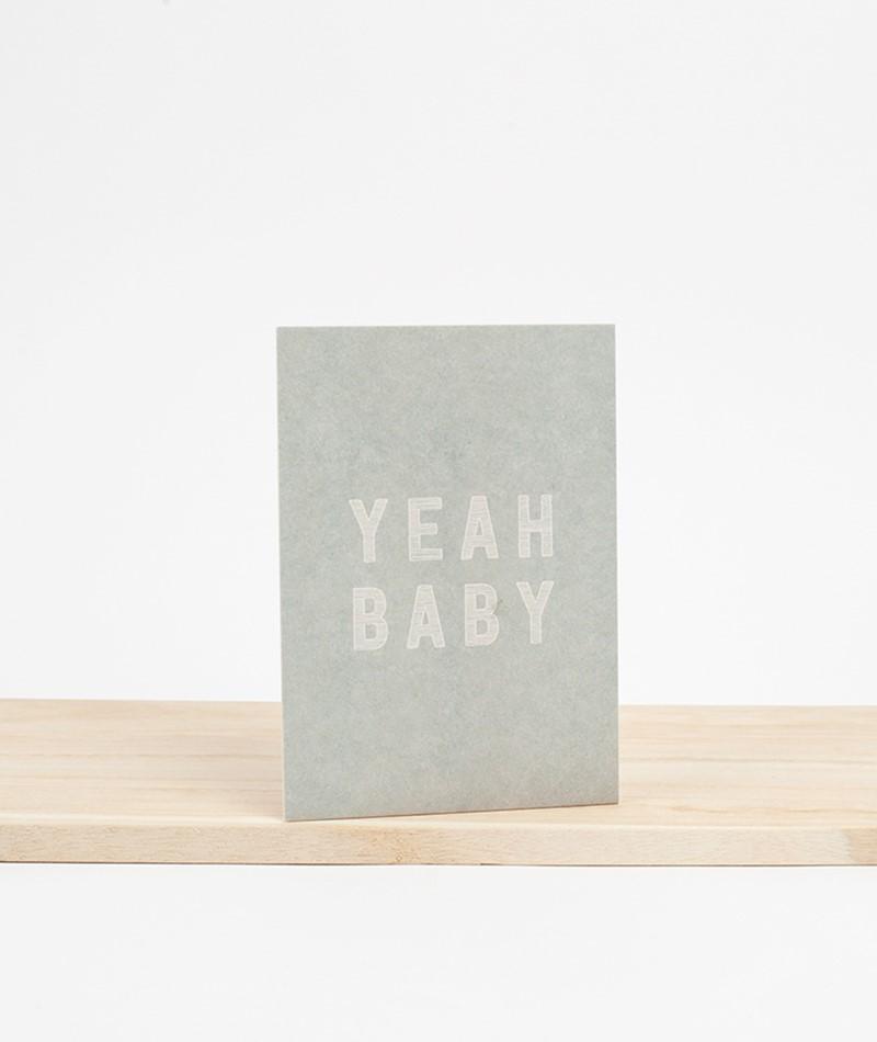 PAPIER AHOI Postkarte Yeah Baby blau