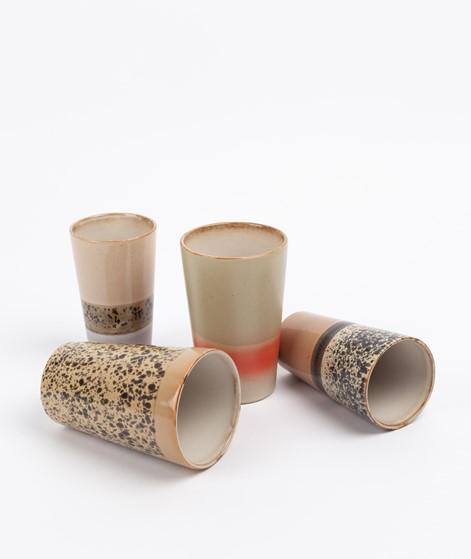 HKLIVING 70`s Latte Mugs braun rosa