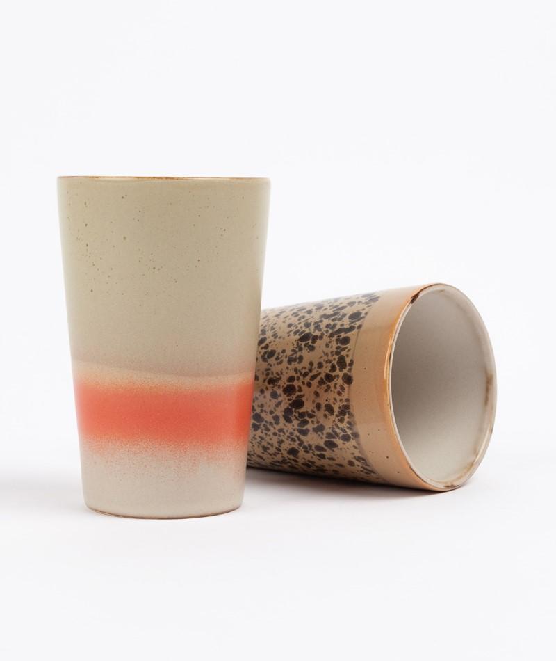 HKLIVING 70`s Tea Mug beige rot