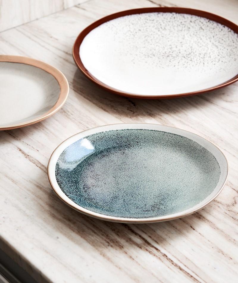 HKLIVING Ceramic 70`s Side Plate mint