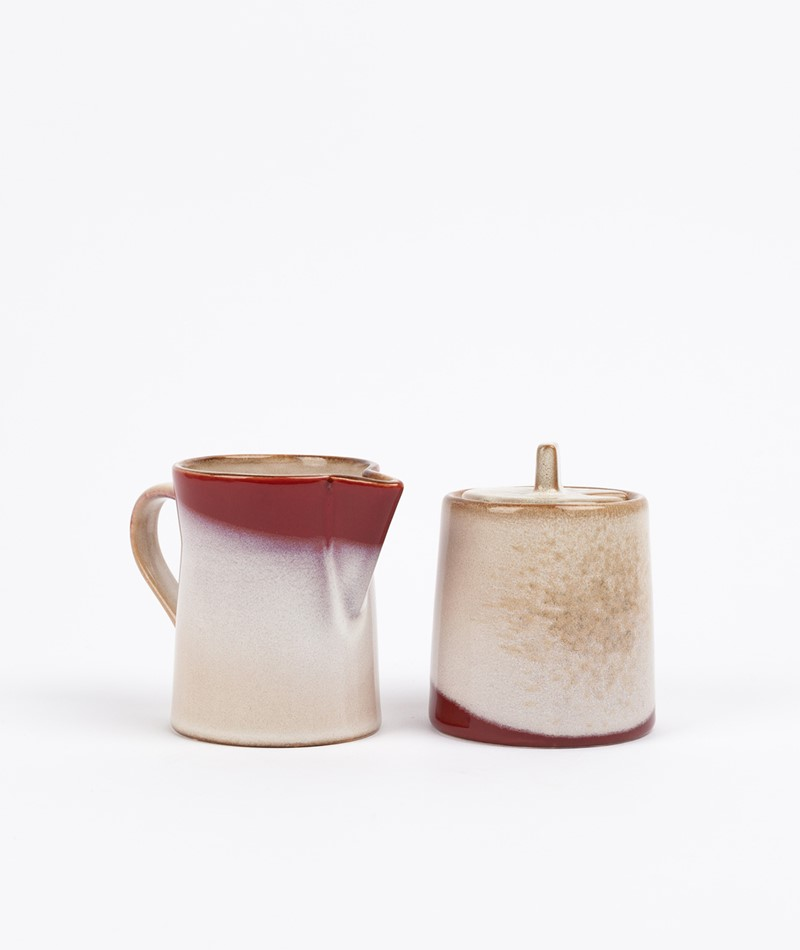 HKLIVING Ceramic Set 70`s Milk & Sugar