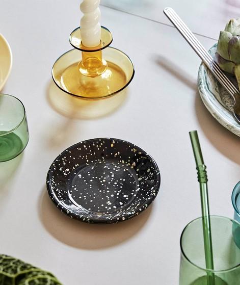 HAY Enamel/ Dish round S sprinkle black