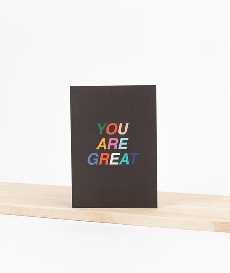KAUF DICH GLÜCKLICH Postkarte you are