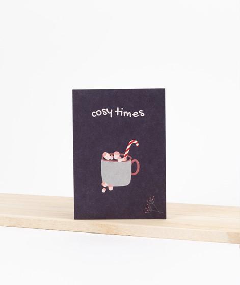 KAUF DICH GLÜCKLICH Postkarte cosy times