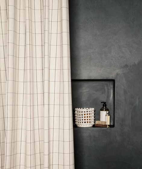 FERM LIVING Chambray Duschvorhang grid