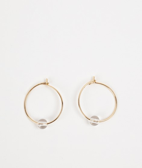 JUKSEREI Birthstone Hoops April gold