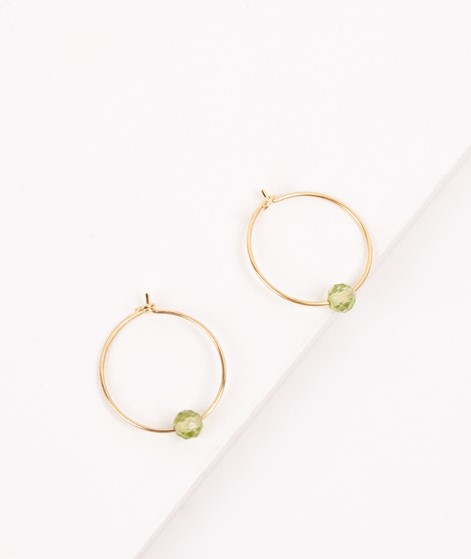 JUKSEREI Birthstone Hoops August gold