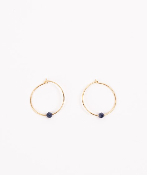 JUKSEREI Birthstone Hoops September gold