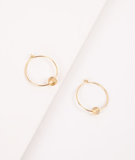 JUKSEREI Birthstone Hoops November gold