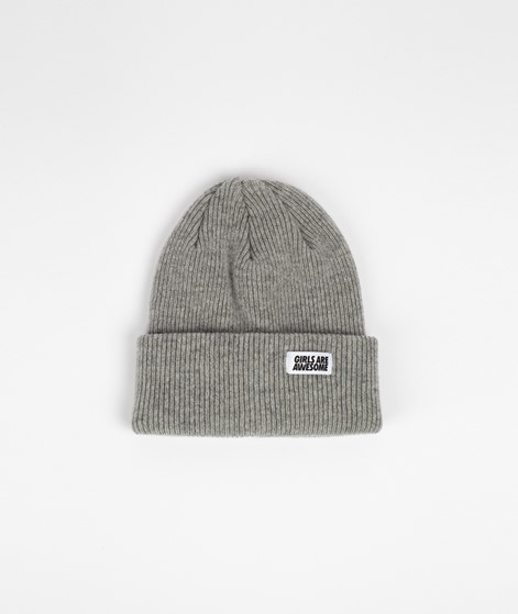 GIRLS ARE AWESOME Classic Beanie grau
