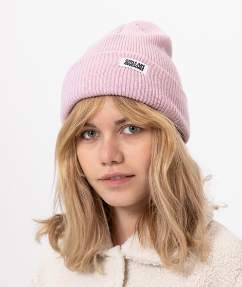 GIRLS ARE AWESOME Classic Beanie rosa