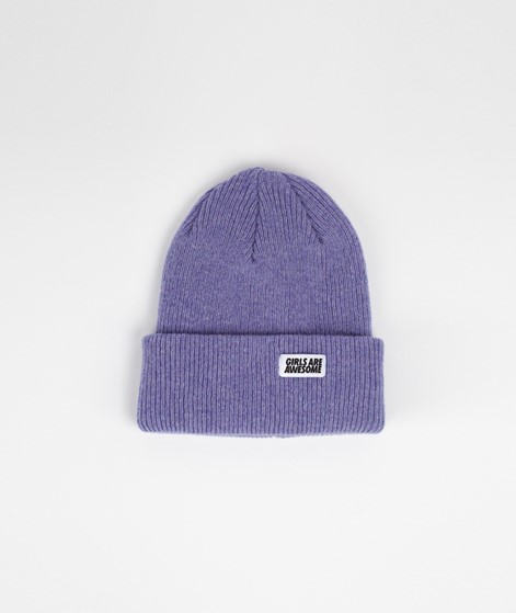 GIRLS ARE AWESOME Classic Beanie flieder