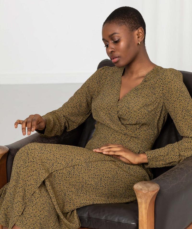 MINIMUM Elastica Kleid gemustert