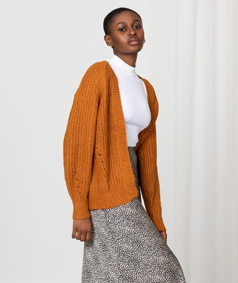 VILA VISuba Cardigan orange