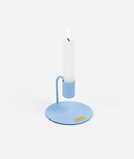 HÜBSCH Kerzenständer Metall blau