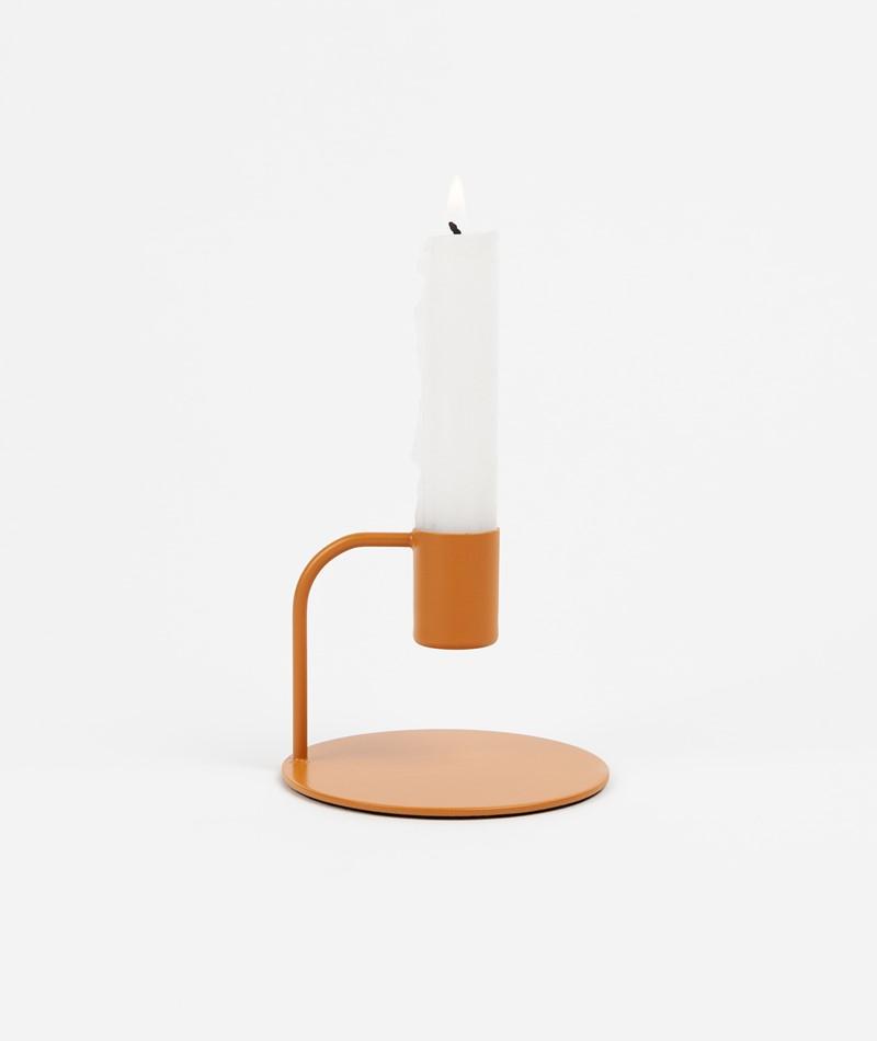 HÜBSCH Kerzenständer Metall orange