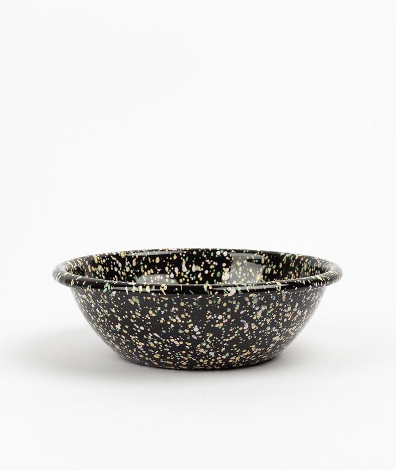HAY Enamel Serving Bowl schwarz