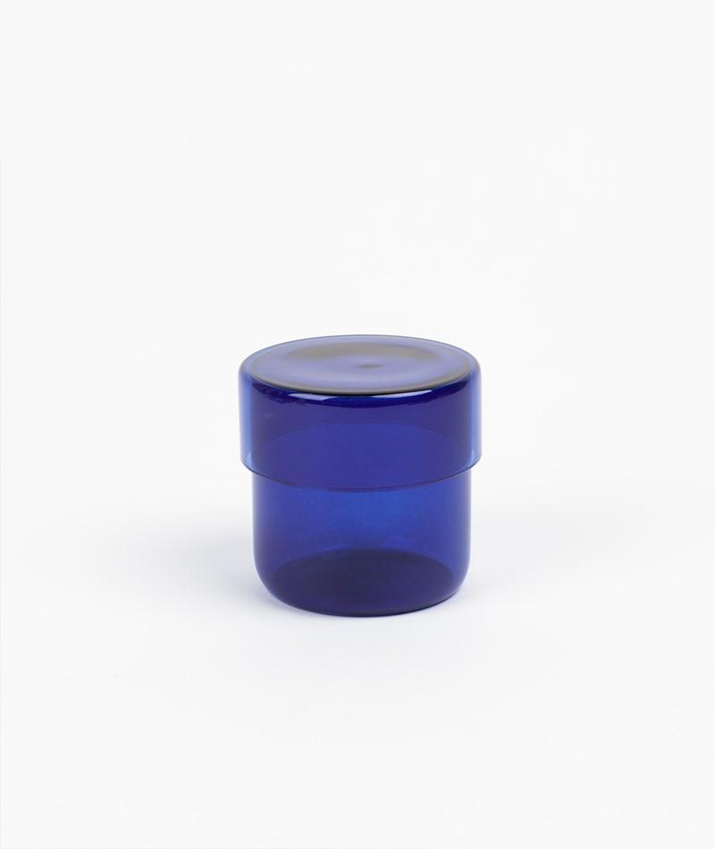 HÜBSCH Aufbewahrungsglas Klein blau