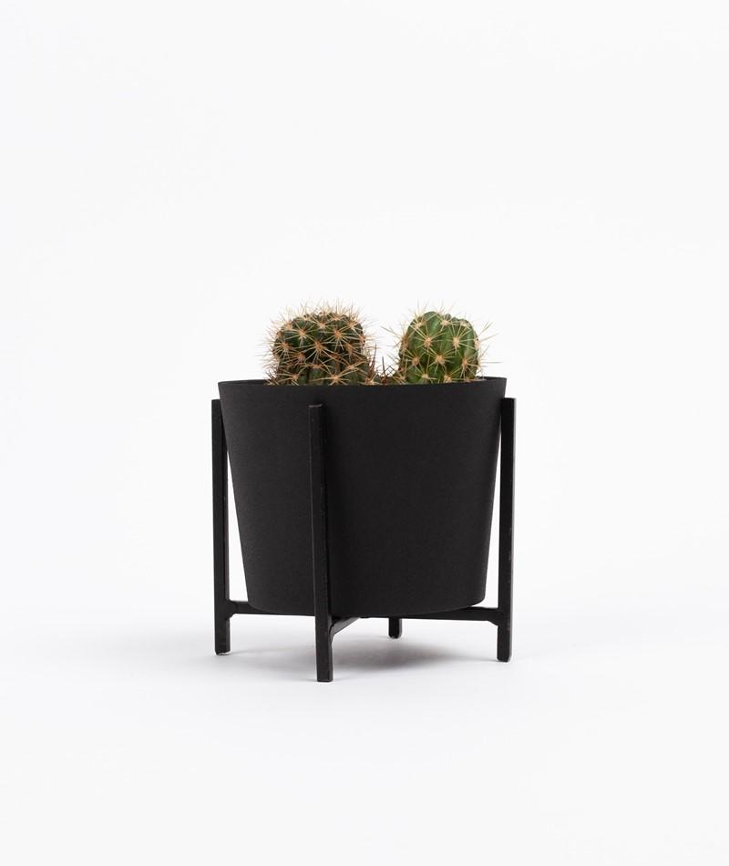 BLOOMINGVILLE Blumentopf klein schwarz
