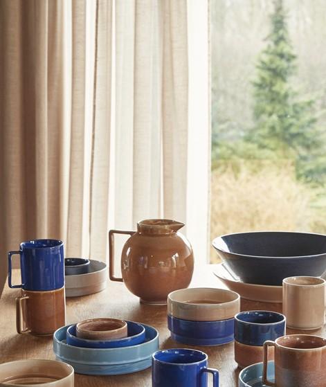 HÜBSCH Keramik Krug braun