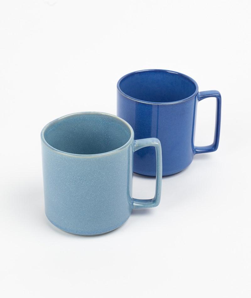 HÜBSCH Keramik Becher hellblau