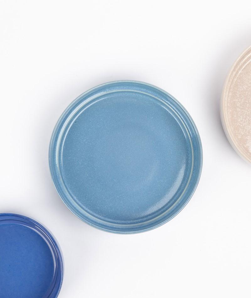 HÜBSCH Keramik Schale hellblau