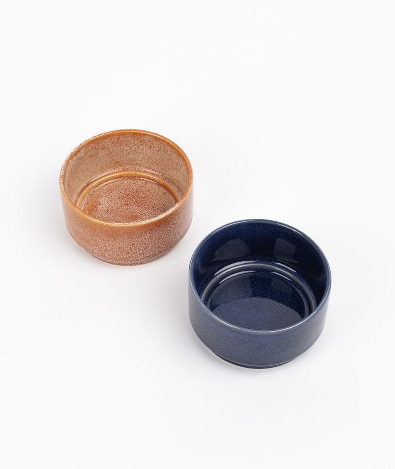 HÜBSCH Keramik Schale dunkelblau