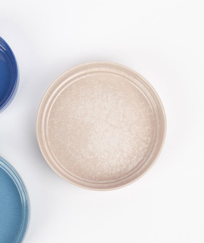 HÜBSCH Keramik Schale weiß