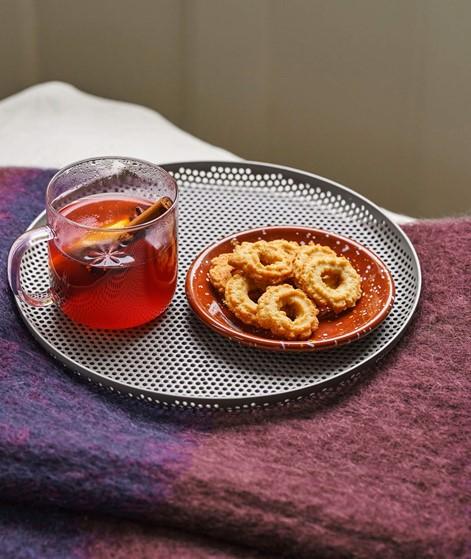 HAY Enamel Dish Round braun