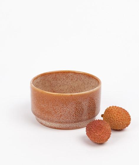 HÜBSCH Keramik Schale braun