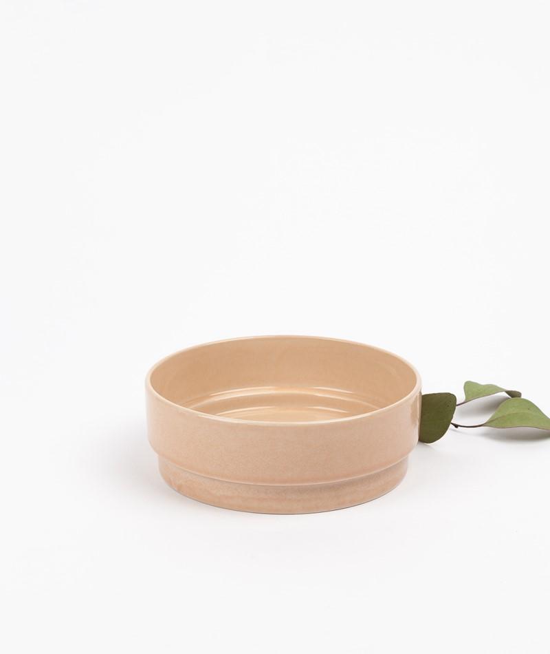 HÜBSCH Keramik Schale sand