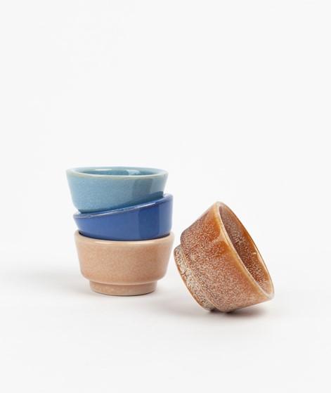 HÜBSCH Keramik Eierbecher braun