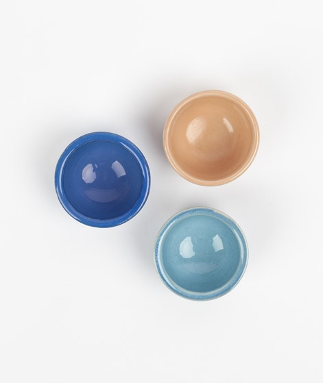 HÜBSCH Keramik Eierbecher hellblau