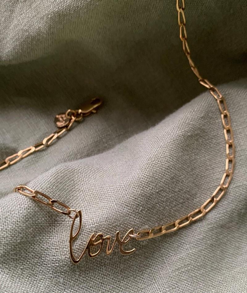 TOODREAMY L O V E Kette gold