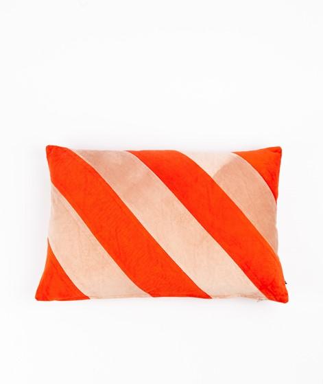 HKLIVING Striped Cushion Velvet rot/pink